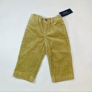 NWT Ralph Lauren Khaki Corduroy Pants - 12 months